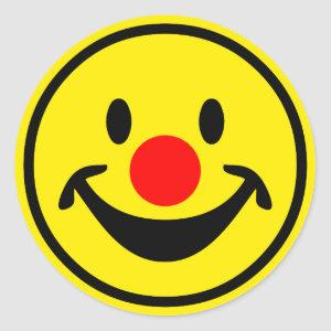 Red Nose - yellow + your ideas Classic Round Sticker