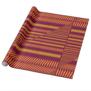 Red Orange Yellow African / Ethnic Gift Wrap