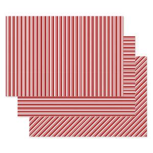 Red White Peppermint Stripes  Sets