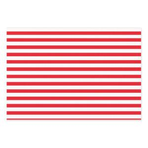 Red & White Stripes Candy Cane Christmas Wrapping Paper Sheets