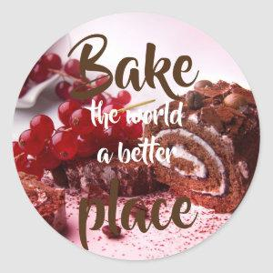 Redcurrant cake// Bake the world a better place Classic Round Sticker