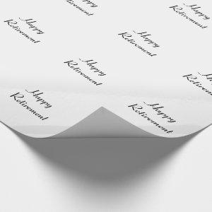 Retirement, black & white gift wrap. wrapping paper