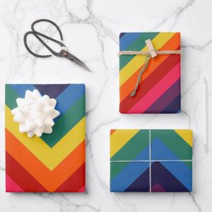 Retro Rainbow Totally Awesome Wrapping Paper