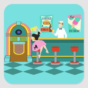 Retro Soda Fountain Stickers