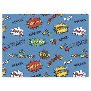 Retro Superhero Kids Pattern Tissue Paper