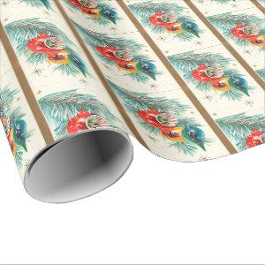 Retro Vintage Christmas bulb pattern party wrap Wrapping Paper