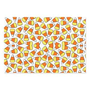 Retro Vintage Halloween Pattern Candy Corn Wrapping Paper Sheets