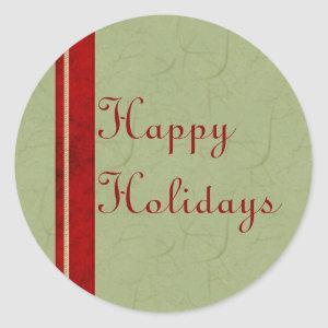 Rice Paper Ribbon Happy Holidays Stickers