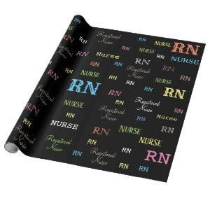 RN (REGISTERED NURSE) wrapping paper