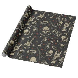 Rock Music Pattern Wrapping Paper