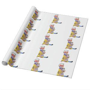 Rocker cat - punk cat - singing cats wrapping paper