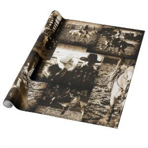 Rodeo Cowboy Rustic Country Western Wrapping Paper