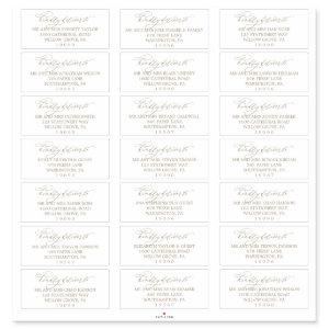 Romantic Gold Calligraphy Guest Address Labels
