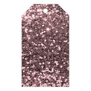 Rose Gold Faux Glitter Sparkles Gift Tags