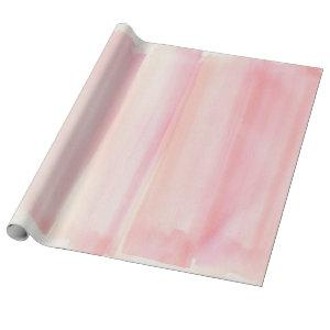 Rose Gold Pink Watercolor Girly Pastel Wrapping Paper