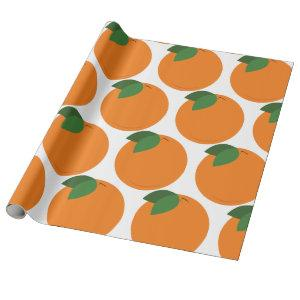 Round Orange Wrapping Paper
