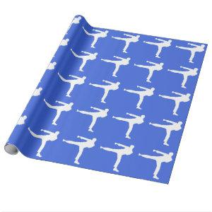 Royal Blue Martial Arts Wrapping Paper