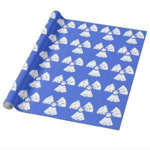 Royal Blue Radioactive Symbol Wrapping Paper
