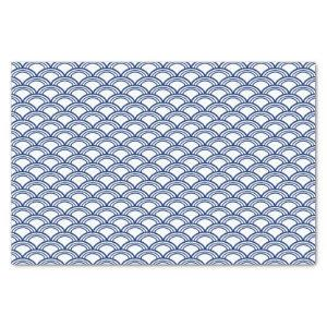 Royal Blue Seigaiha Pattern Tissue Paper