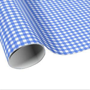 Royal Blue | White Gingham Wrapping Paper