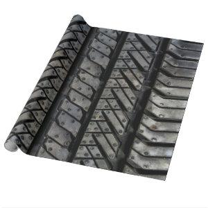 Rubber Tire Thread Automotive Style Decor Wrapping Paper