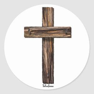 Rugged Cross Classic Round Sticker