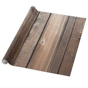 Rustic Barn Wood Wrapping Paper