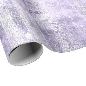 Rustic Branding   Dusty Lavender Purple Wood Plank Wrapping Paper
