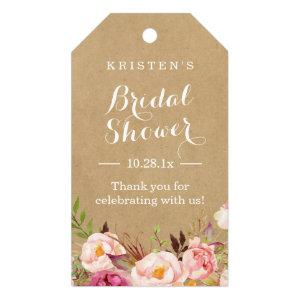 Rustic Floral Kraft | Bridal Shower Thank You Gift Tags
