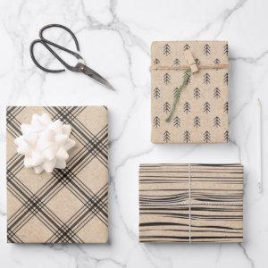 Rustic Kraft Farmhouse holiday wrapping paper