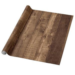 Rustic Reclaimed Barn Wood Farmhouse Wrapping Paper
