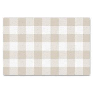 Rustic Tan and White Buffalo Check Pattern Tissue Paper