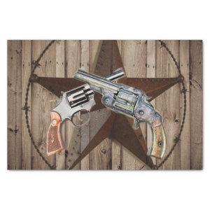 rustic texas star cowboy western country pistols tissue paper