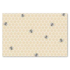 Rustic Vintage Honeycomb Bumble Bee Tissue Paper