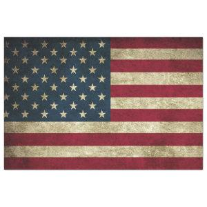 RUSTIC WEATHERED AMERICAN FLAG TISSUE PAPER