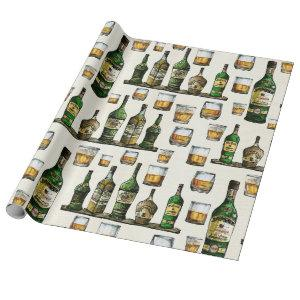 Rustic Whiskey Wrapping Paper