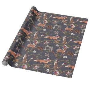 Rustic Woodland Animals Wrapping Paper