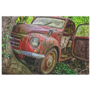 Rusty Red Truck Vintage 20x30  Decoupage Tissue Paper
