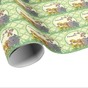 Safari Jungle Baby Animals Wrapping Paper