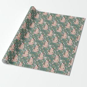 Sage Christmas Cow Pattern