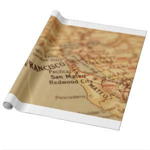 SAN FRANCISCO VINTAGE MAP WRAPPING PAPER