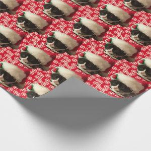 Santa Claus Cat Wrapping Paper