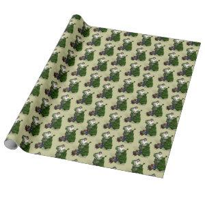 Santa Claus In Camouflage Dress Wrapping Paper