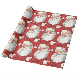 Santa Claus Vintage Christmas Wrapping Paper