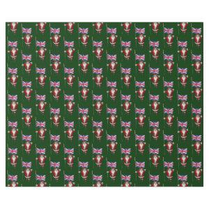 Santa Claus With Ensign Of The UK Wrapping Paper