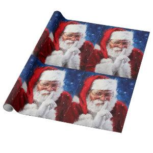 Santa Clause Wrapping Paper