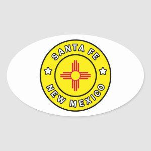 Santa Fe New Mexico Oval Sticker