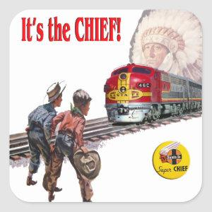 Santa Fe Super Chief Train Stickers