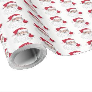 Santa with MAGA on his hat for Christmas Wrapping Paper