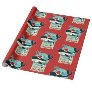 Santa's Whale Wrapping Paper